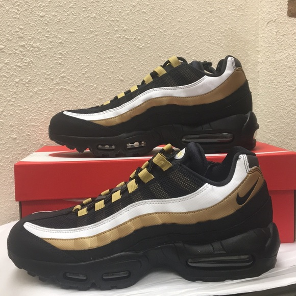 ff8637d37a Nike Shoes | Air Max 95 Og Black Metallic Gold | Poshmark